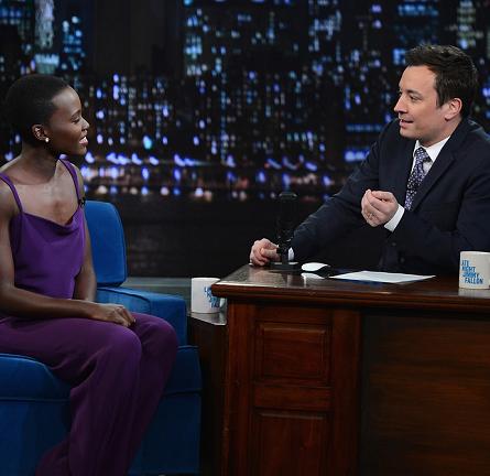 Lupita Nyong'o in Cushnie et Ochs | 'Late Night with Jimmy Fallon'