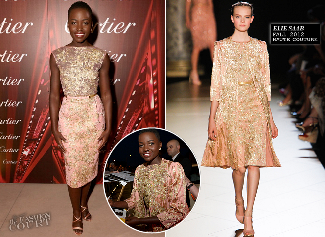 Lupita Nyong'o in Elie Saab Couture | Palm Springs International Film Festival Awards Gala 2014