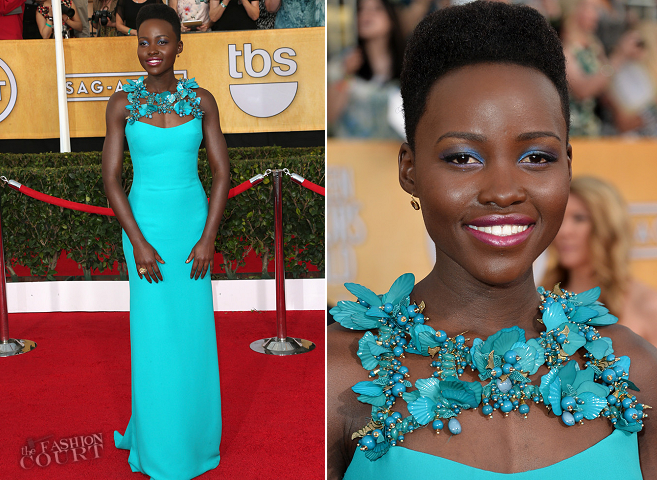 Lupita Nyong'o in Gucci | 2014 SAG Awards
