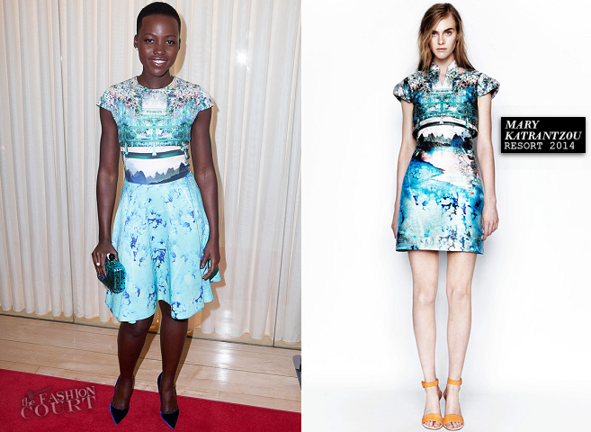 "Lupita Nyong'o in Mary Katrantzou | DuJour Magazine's ""The Great Performances"" Issue Party"