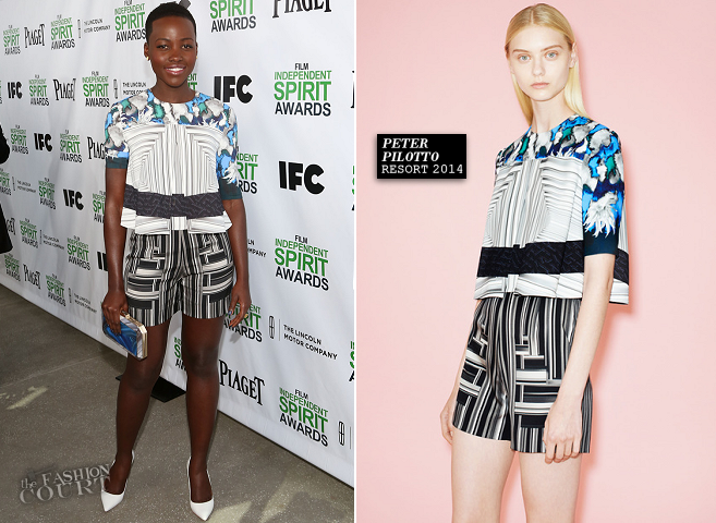 Lupita Nyong'o in Peter Pilotto | 2014 Film Independent Spirit Awards Nominees Brunch