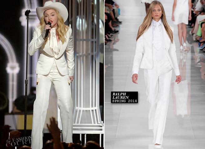 Madonna in Ralph Lauren | 2014 GRAMMY Awards