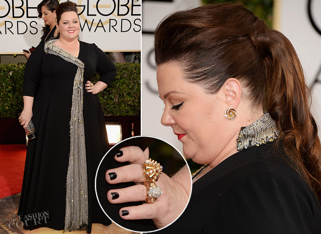 Melissa McCarthy in Custom | 2014 Golden Globes