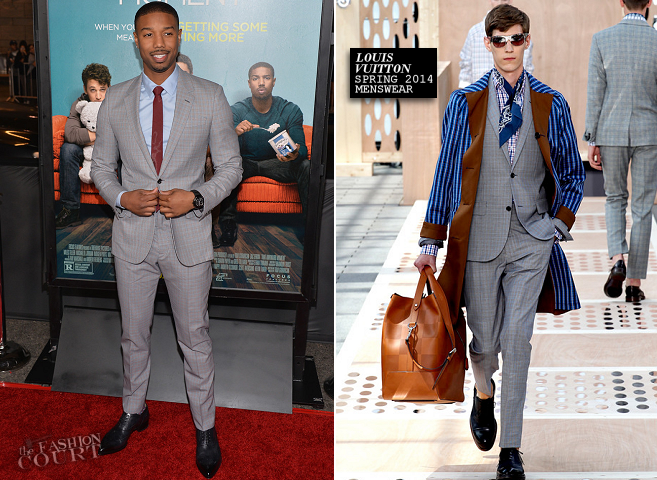 Michael B. Jordan in Louis Vuitton | 'That Awkward Moment' LA Premiere
