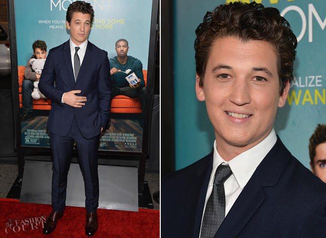 Miles Teller in Prada | 'That Awkward Moment' LA Premiere