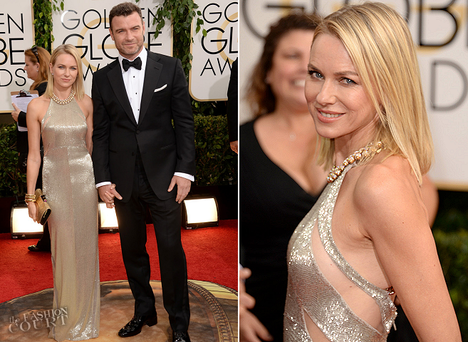 Naomi Watts & Liev Schreiber in Tom Ford | 2014 Golden Globes