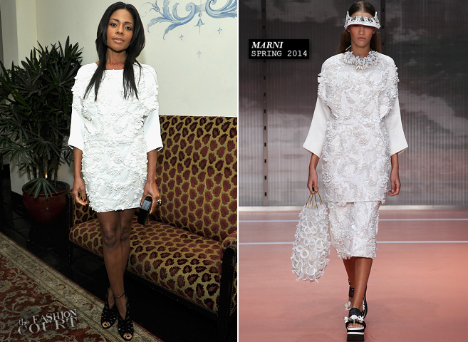 Naomie Harris in Marni | W Magazine's Golden Globes 2014 Celebration