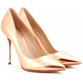Nicholas Kirkwood Rose Gold Pointed Toe Pumps
