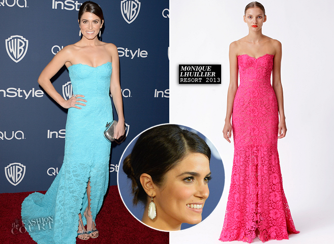 Nikki Reed in Monique Lhuillier | 2014 Warner Bros. / InStyle Golden Globe Awards After Party