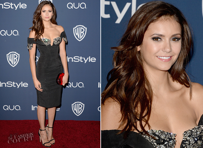 Nina Dobrev in Armani Privé | 2014 Warner Bros. / InStyle Golden Globe Awards After Party