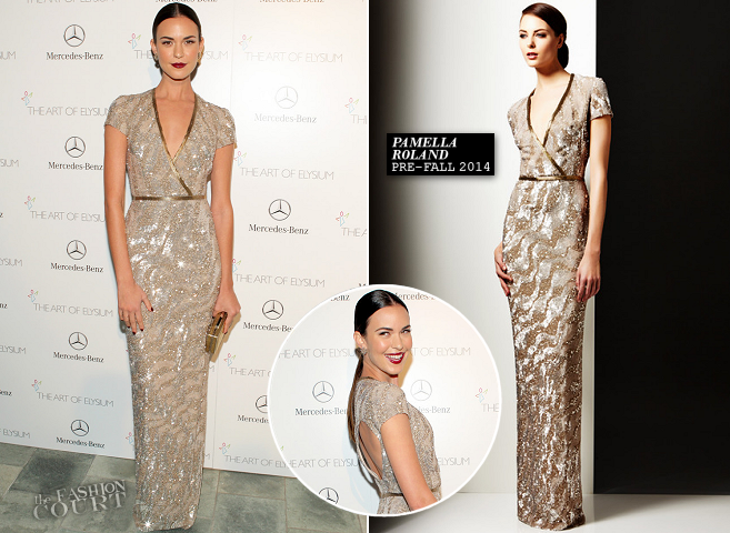 Odette Annable in Pamella Roland | The Art of Elysium HEAVEN Gala 2014