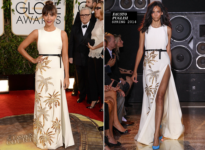 Rashida Jones in Fausto Puglisi | 2014 Golden Globes