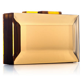 RAUWOLF Emerald Cut Gemstone Clutch in Gold