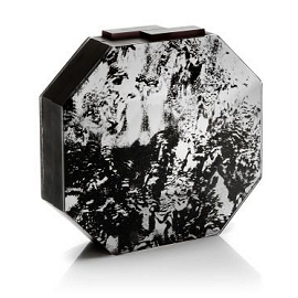 RAUWOLF Octagon Cut Gemstone Clutch in Antique Mirror