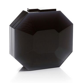 RAUWOLF Octagon Cut Gemstone Clutch in Black Onyx
