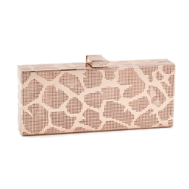 RODO Gold Mirrored Perforated Clutch