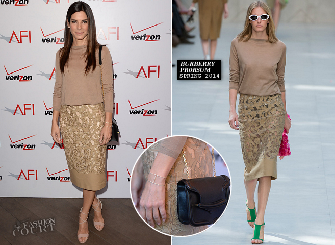 Sandra Bullock in Burberry Prorsum | AFI Awards 2014