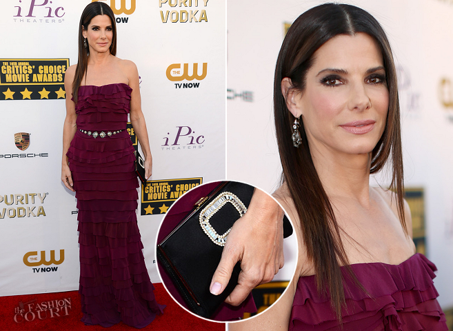 Sandra Bullock in Lanvin | 2014 Critics' Choice Movie Awards