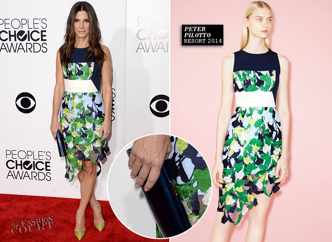 Sandra Bullock in Peter Pilotto | 2014 People's Choice Awards