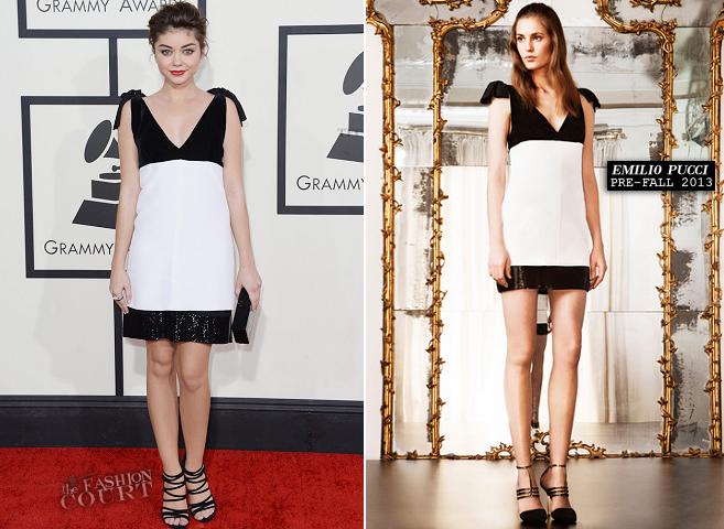 Sarah Hyland in Emilio Pucci | 2014 GRAMMY Awards