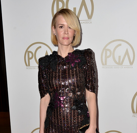 Sarah Paulson in Marc Jacobs | 2014 Producers Guild of America Awards