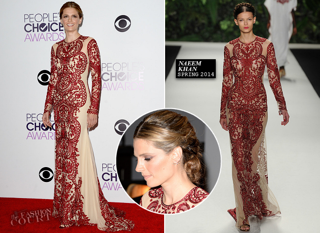 Stana Katic in Naeem Khan | 2014 People's Choice Awards