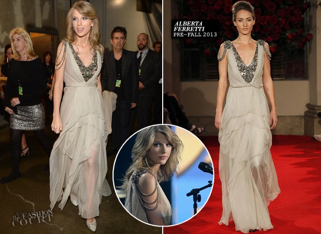 Taylor Swift in Alberta Ferretti | 2014 GRAMMY Awards