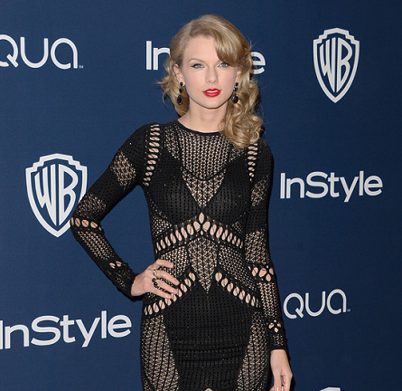 Taylor Swift in Julien Macdonald | 2014 Warner Bros. / InStyle Golden Globe Awards After Party