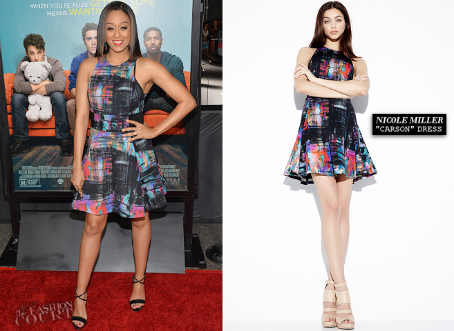 Tia Mowry in Nicole Miller | 'That Awkward Moment' LA Premiere
