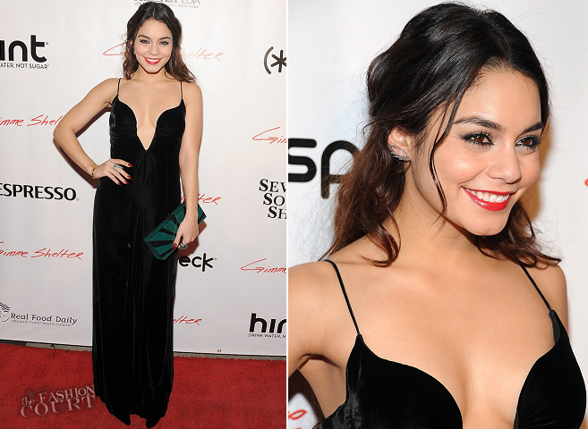 Vanessa Hudgens in Giorgio Armani | 'Gimme Shelter' Hollywood Screening