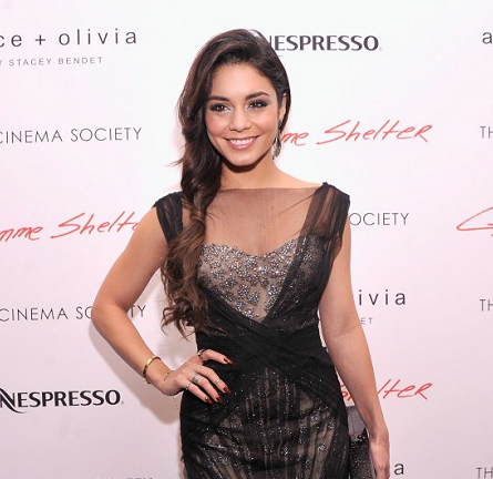 Vanessa Hudgens in Monique Lhuillier | 'Gimme Shelter' NYC Screening