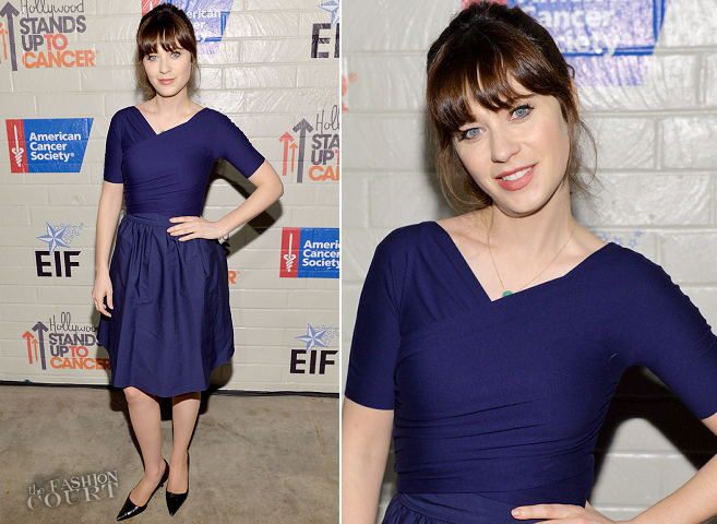 Zooey Deschanel in Vintage | Hollywood Stands Up to Cancer