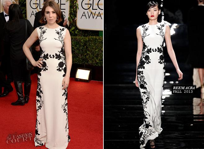Zosia Mamet in Reem Acra | 2014 Golden Globes
