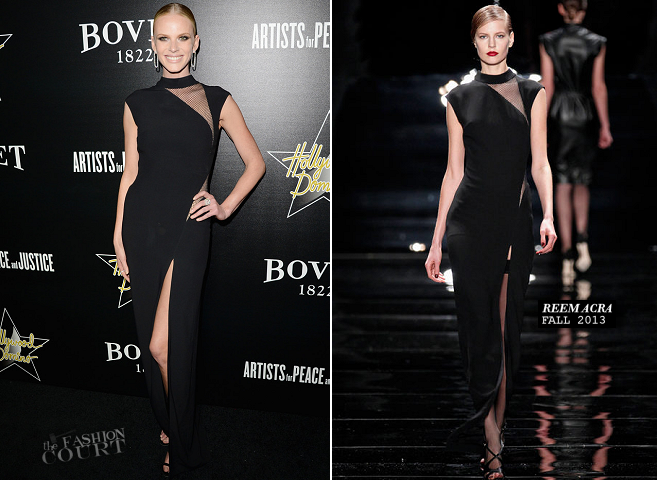 Anne V in Reem Acra | 2014 Hollywood Domino Gala