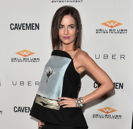 Camilla Belle in Christian Dior | 'Cavemen' Hollywood Premiere