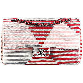 CHANEL Resort 2014 Sequin Stripe 2.55 Bag