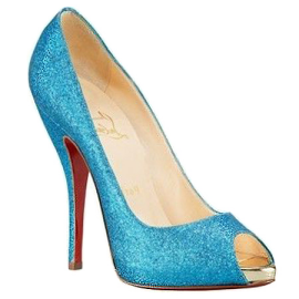 Christian Louboutin TITI Open Toe Glitter Pumps