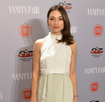 Crystal Reed in Paper London | Vanity Fair 'Young Hollywood' Party 2014