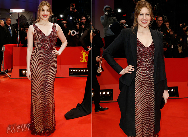 Greta Gerwig in Reem Acra & Oscar de la Renta | 2014 Berlinale International Film Festival Closing Ceremony