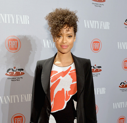 Gugu Mbatha-Raw in Escada | Vanity Fair 'Young Hollywood' Party 2014