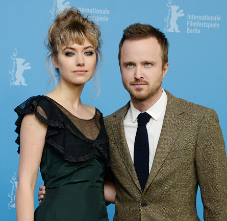 Imogen Poots in Marc Jacobs & Aaron Paul in Billy Reid | 'A Long Way Down' Photocall - 2014 Berlinale International Film Festival
