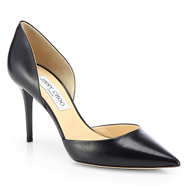 Jimmy Choo 'Addison' D'Orsay Leather Pumps
