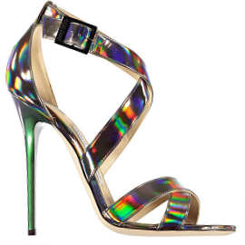 Jimmy Choo XENIA Iridescent Metallic Sandals