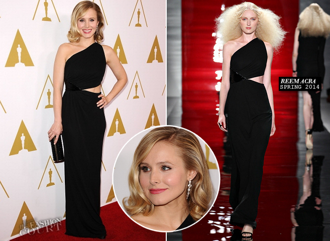 Kristen Bell in Reem Acra | AMPAS' Scientific & Technical Awards 2014