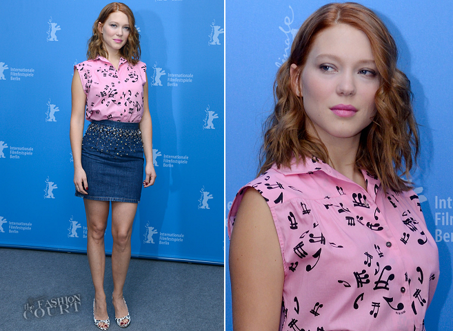 Léa Seydoux in Miu Miu | 'La belle et la bête' Photocall - 2014 Berlinale International Film Festival