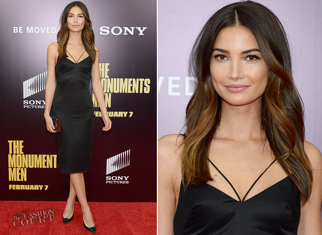 Lily Aldridge in Cushnie et Ochs | 'Monument Men' NYC Premiere