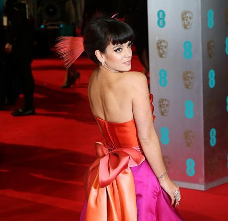 Lily Allen in Vivienne Westwood Couture | 2014 BAFTAs