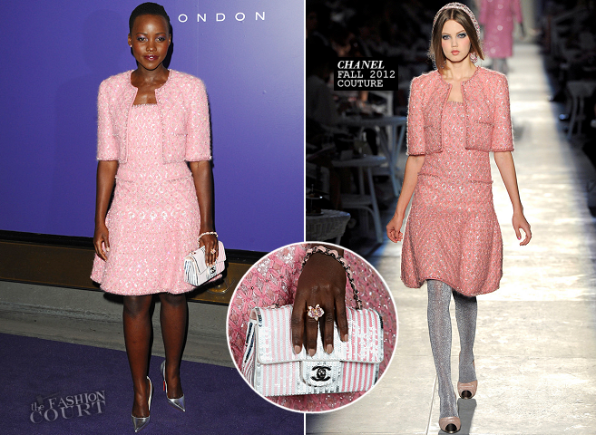 Lupita Nyong'o in Chanel Couture | 2014 EE British Academy Film Awards Nominees Party
