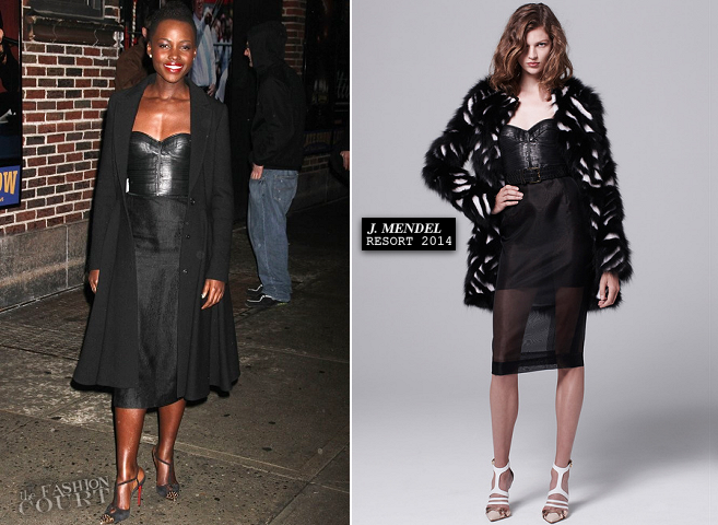 Lupita Nyong'o in J. Mendel | 'Late Show with David Letterman'