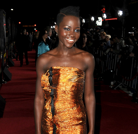 Lupita Nyong'o in Lanvin | 'Non-Stop' Hollywood Premiere